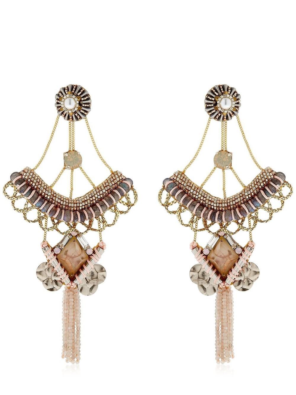 DEEPA GURNANI Fayette Earrings in pink