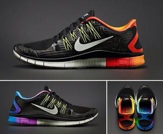 shoes rainbow nike gay pride rainbow colour nike free runss