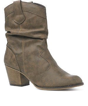 Ruched cowboy boot