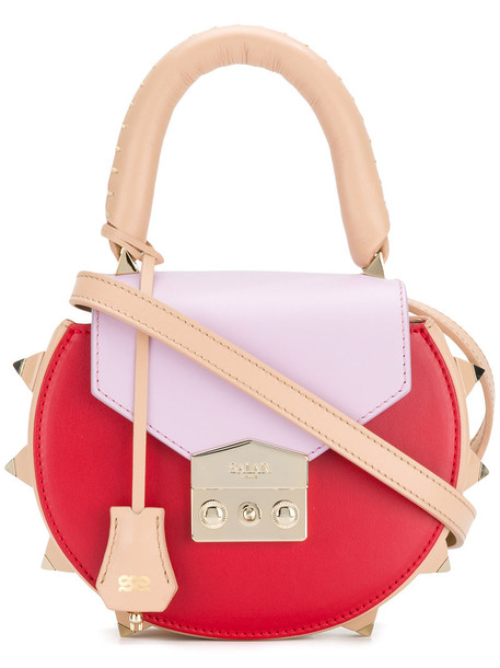 cross women bag leather suede red