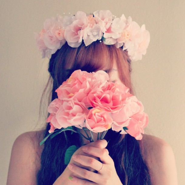 Hair Accessory Pink Flower Crown Flower Headpiece Flower