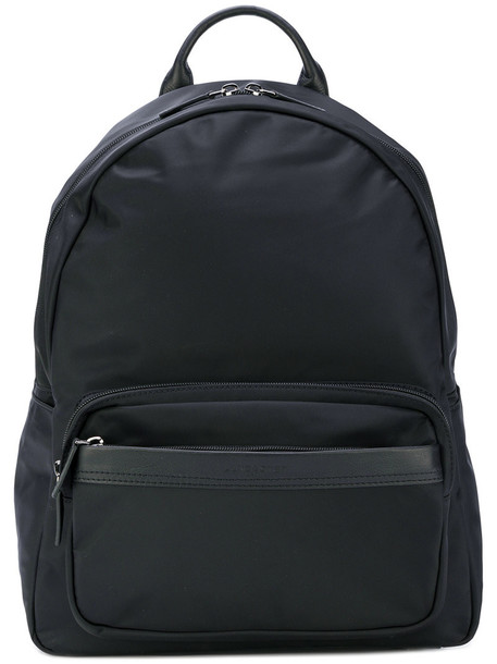 lancaster zip women backpack leather black bag