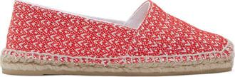 espadrilles chevron red shoes