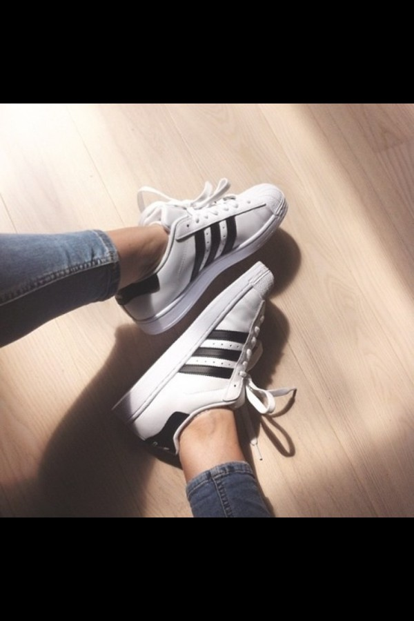 adidas superstar white and black tumblr