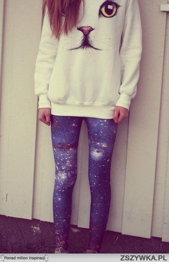 jeans cats leggings sweater