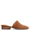 Pisa suede backless loafers