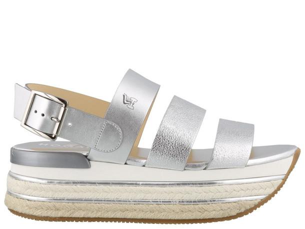 Hogan H432 Sandals in silver
