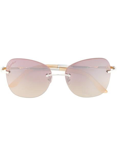 Cartier sunglasses purple pink