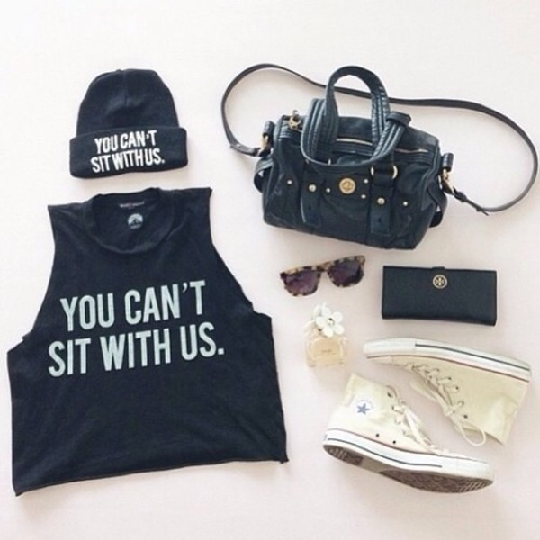 hat tank top bag