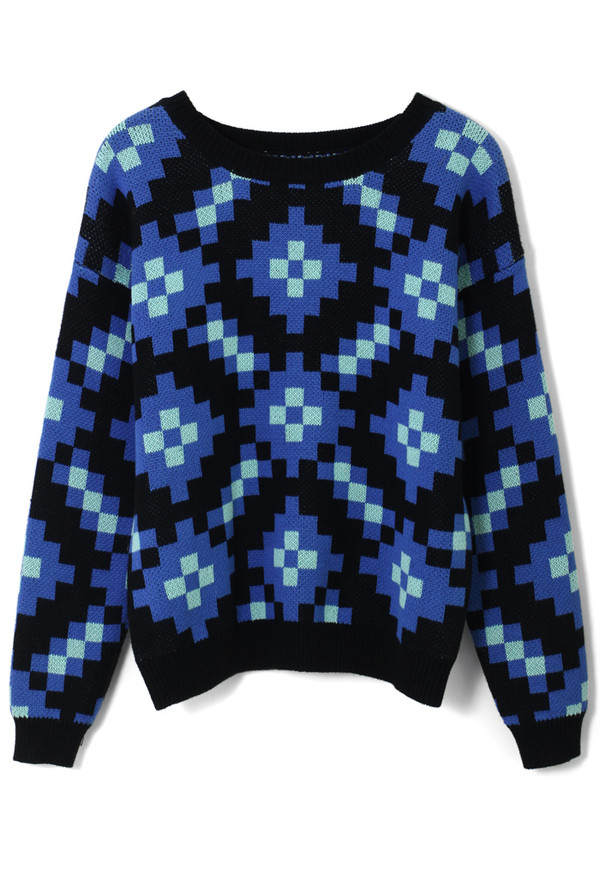 sweater colorblock sparking