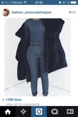 pants grey pants wool wool pants