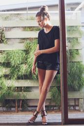 snakes nest,t-shirt,shoes,sandals,minimalist,black sandals,strappy sandals,black flats