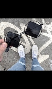 sunglasses,cute,accessories,Accessory,see through,grunge jewelry,grunge,black,dark,black sunglasses worn by sofia richie,hippie glasses,soft grunge