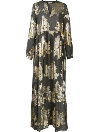 dress maxi dress maxi women silk grey metallic