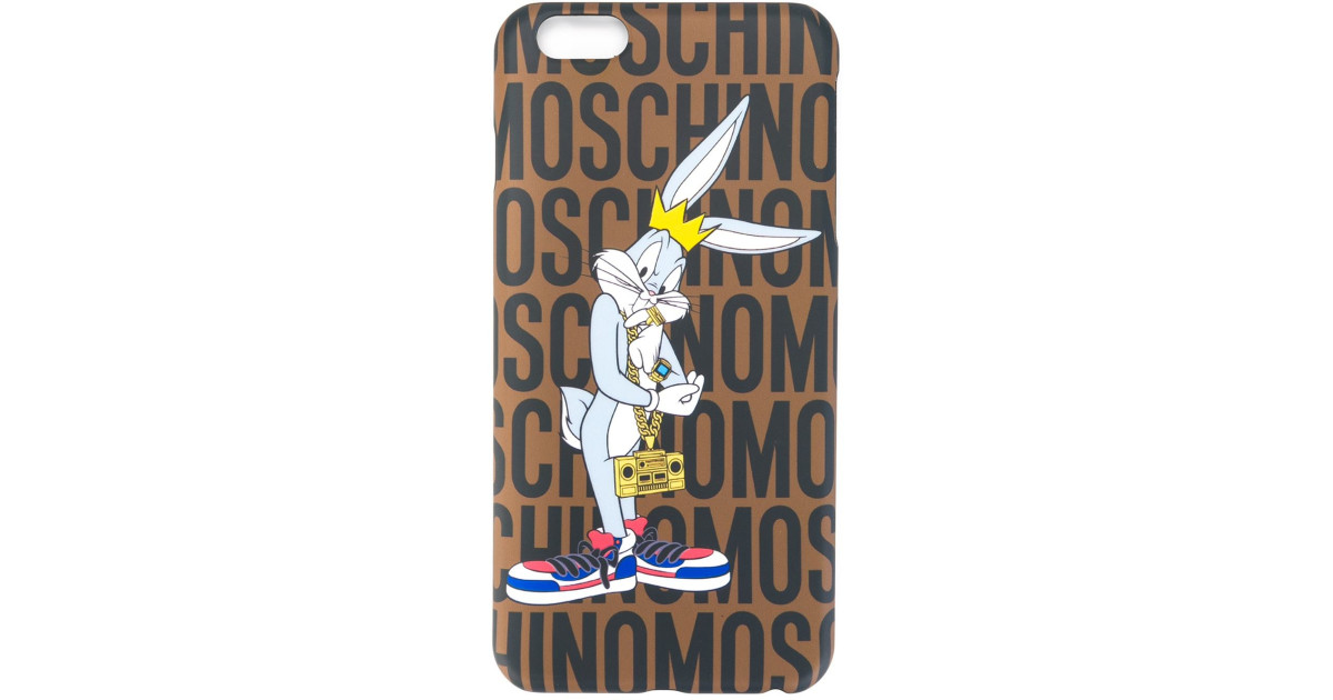 newest 39e4c 29490 Moschino | Multicolor Bugs Bunny Iphone 6 Plus Case | Lyst