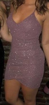 dress,sparkle,pink,mini dress,spagetti straps,short dress,wrap dress