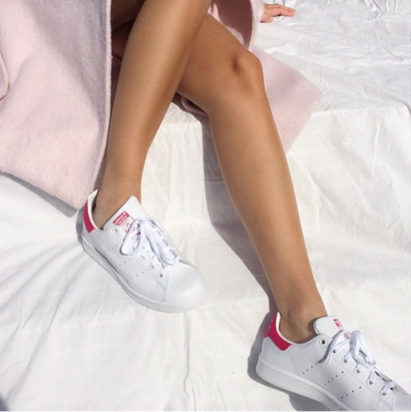 adidas originals white and pink stan smith
