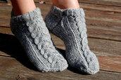 socks,knitted slippers,knitted socks,hand knit slippers,wool slippers,wool socks,gift ideas,socks for home,grey,christmas gift for her