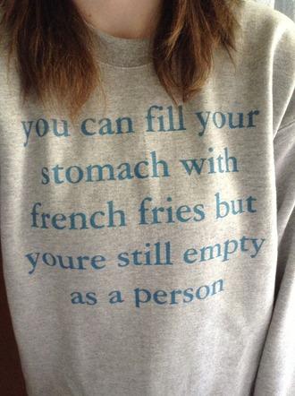 sweater winter sweater sweatshirt oversized sweater french fries
