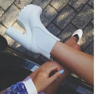 shoes ankle boots platform platform boots white boots white ankle boots chelsea boots white chelsea boot heelded shoe game cute shoes stylish shoes stylish style styled trendy trend fashion inspo want love cute want them want exactly this one wanted shoes wantsomethingsimilar wantttt wantitsomuch need needed needthatlook cool dope chill tumblr popular popular fashion popular blogger popular clothes blogger bloggerstyle bloggers fashionista fashionable on point clothing