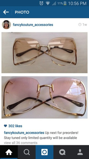 sunglasses rimless vintage sunglasses