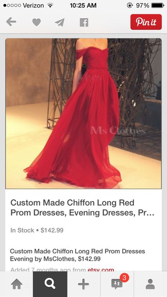 clothes dress red dress prom dress