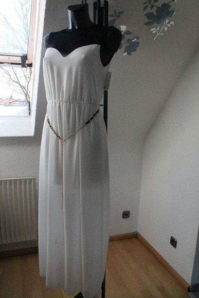 clothes dress white dress underskirt maxi dress