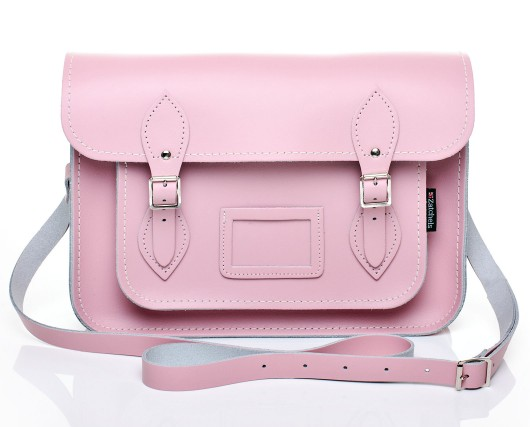 Pastel Baby Pink Leather Satchel | Satchels | Zatchels