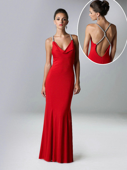 dress sexy dress v neck red dresses red sheath long lady dresses backless prom dresses open back dresses