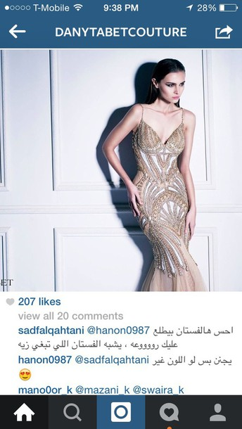 dress dany tabet prom dress couture dress