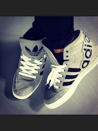 shoes adidas trainers adidas shoes sneakers grey sneakers stripes sporty leisure underwear