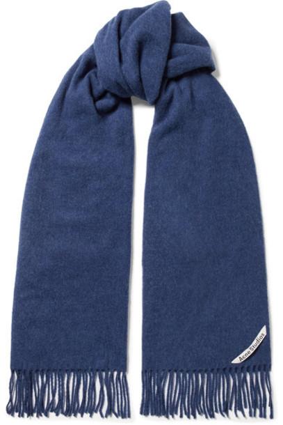 Acne Studios scarf blue wool