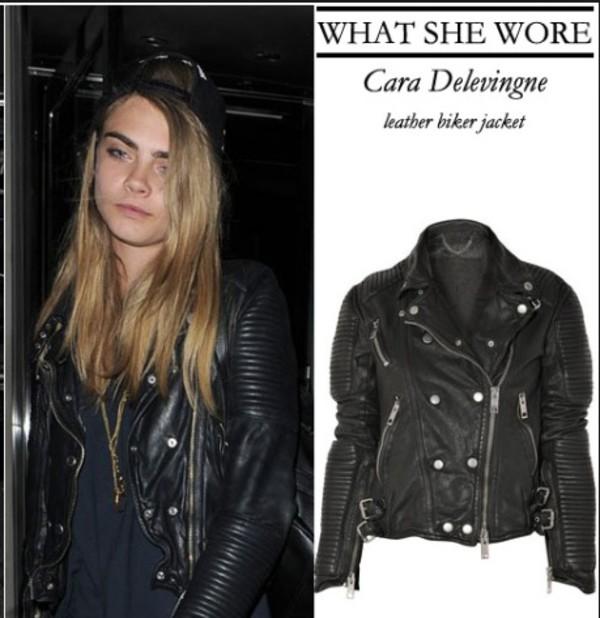 jacket cara delevingne biker jacket