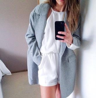 jacket coat knit blue sky blue white grunge hipster minimalist minimalism girly pastel
