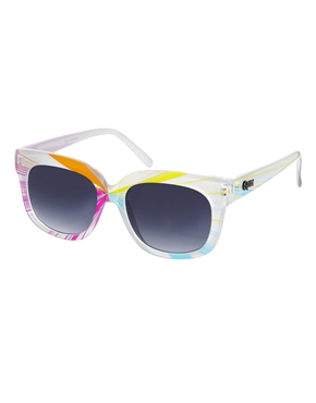Quay | Quay Thick Framed Multicoloured Sunglasses at ASOS