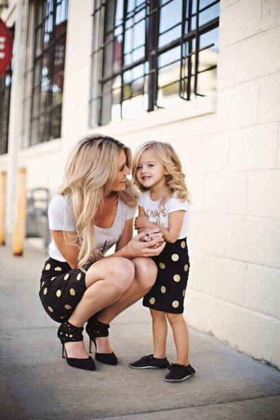 skirt black skirt tight polka dots shirt dress