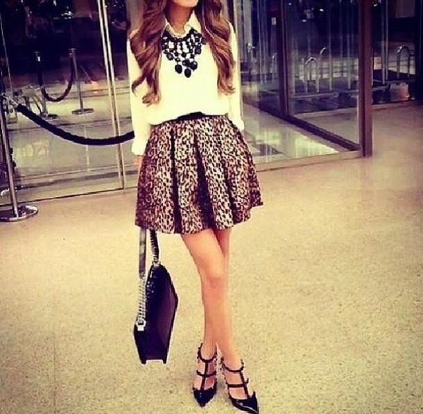 blouse white summer top skirt bag