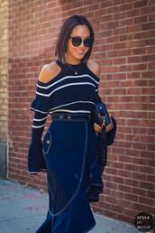 bag,black bag,case bag,skirt,top,sunglasses