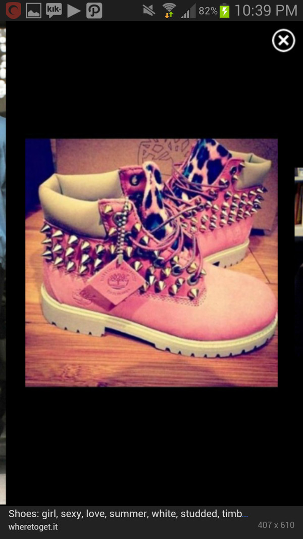 shoes pink timberlands leopard timberlands studded shoes