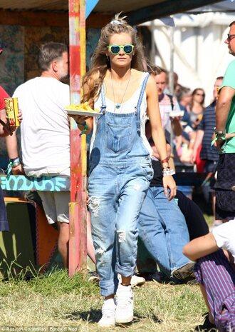 jumpsuit dungarees jeans denim denim dungarees blue