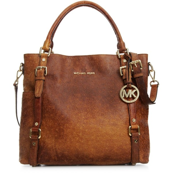 Michael Michael Kors Handbag, Bedford Ostrich Tote - Polyvore