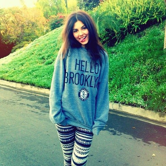 shirt aztec girly famous victoria justice leggings sweater