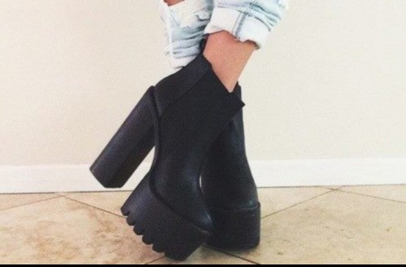 style fashion black shoes boots high heel rock heels high heels streetwear punk shoes#scarpe#wow#spettacolo❤️ hot pants