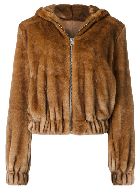 jacket bomber jacket fur fox women
