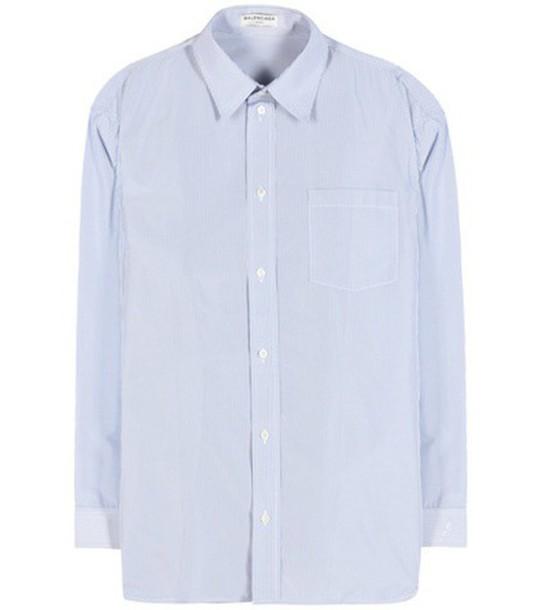 Balenciaga Striped Shirt in blue