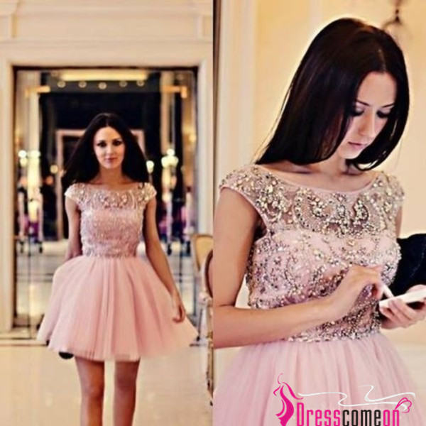 dress ball gowns ball gown dress scoop neck pink short dress tulle dress prom dress beads crystal dresse scoop neck dresses prom dress evening dress pink tulle dress short dress ball gown dress evening dress open back dresses starry night