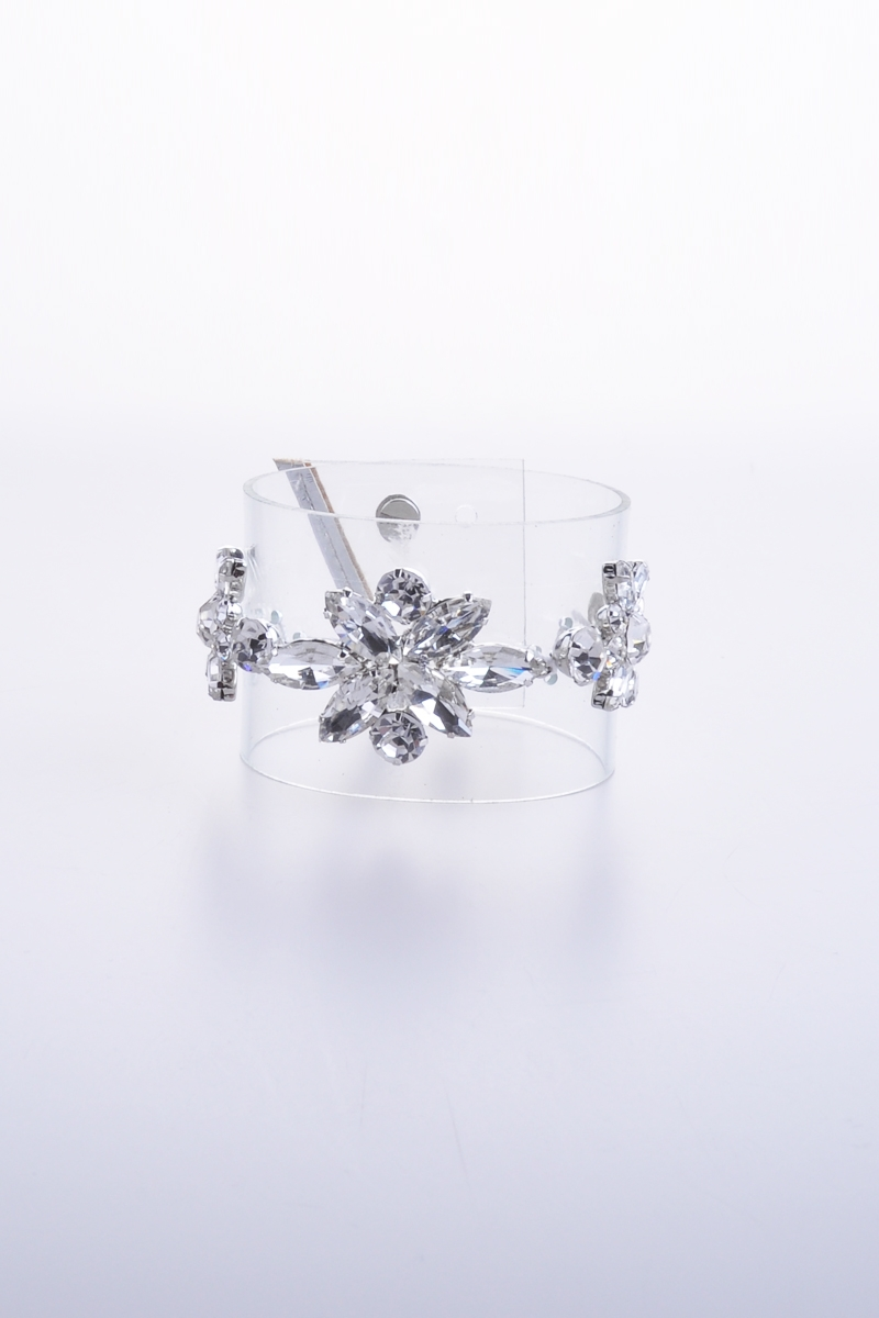 PVC bangle with crystal flower