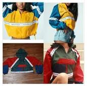 jacket,nautica,tommy hilfiger,tommy hilfiger jacket,cropped jacket,windbreaker,tommy hilfiger crop top