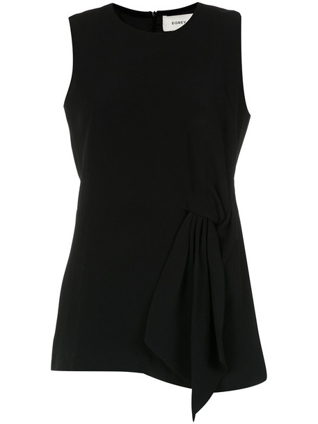 EGREY tunic women origami black top