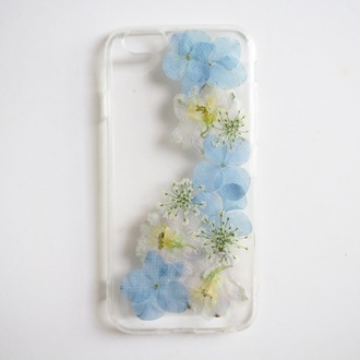 phone cover summer summer handcraft blue flowers flowers floral handmade trendy floral accessories pressed flowers gift ideas lovely gift girlfirend gift birthday gift best gifts anniversary gift best gift trendy gift